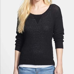 Vince Camuto Open Knit Long Sleeve Sweater Top
